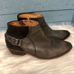 H by Hudson grey, Black Ankle Booties Size 40